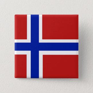 Flagge von Norwegen-Skandinavier Quadratischer Button 5,1 Cm