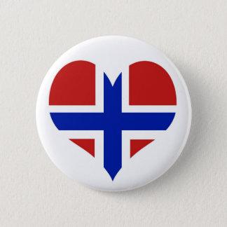 Flagge von Norwegen-Skandinavier Runder Button 5,7 Cm