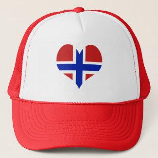 Flagge von Norwegen-Skandinavier Truckerkappe