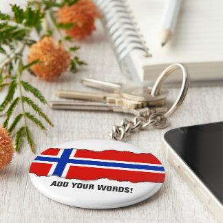 Flagge von Norwegen Standard Runder Schlüsselanhänger