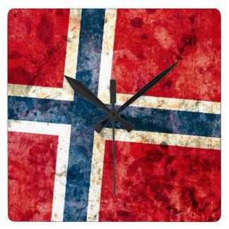 Flagge von Norwegen Uhr