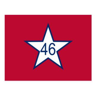 Flagge von Oklahoma Postkarte