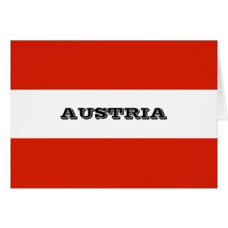 Flagge von Österreich Karte
