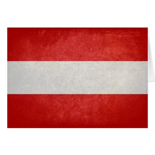Flagge von Österreich Grußkarte