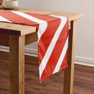 Flagge von Österreich Kurzer Tischläufer