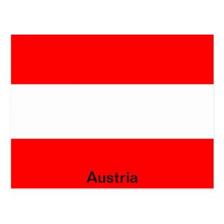 Flagge von Österreich Postkarte