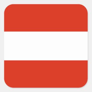 Flagge von Österreich Quadratischer Aufkleber