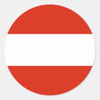 Flagge von Österreich Runder Aufkleber
