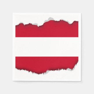 Flagge von Österreich Serviette