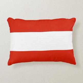 Flagge von Österreich Zierkissen