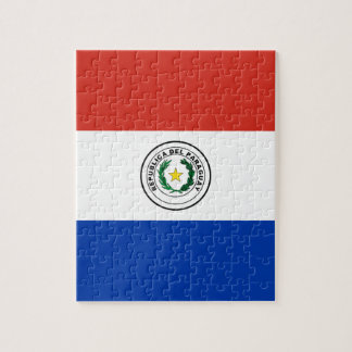 Flagge von Paraguay- - Banderade Paraguay Puzzle