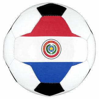 Flagge von Paraguay-Fußball Fußball