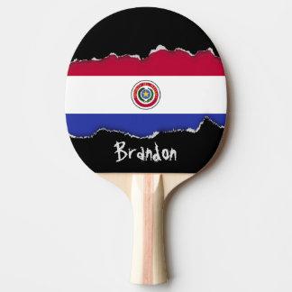 Flagge von Paraguay Tischtennis Schläger