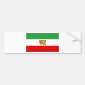 Flagge von Persien/von Iran (1964-1980) Autoaufkleber