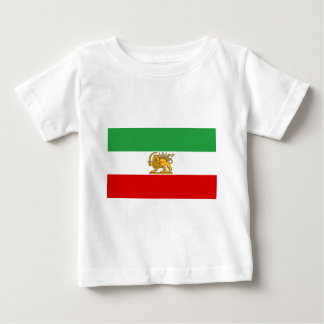 Flagge von Persien/von Iran (1964-1980) Baby T-shirt