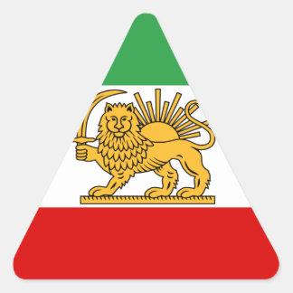 Flagge von Persien/von Iran (1964-1980) Dreieckiger Aufkleber