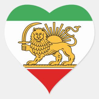 Flagge von Persien/von Iran (1964-1980) Herz-Aufkleber