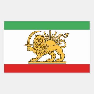 Flagge von Persien/von Iran (1964-1980) Rechteckiger Aufkleber