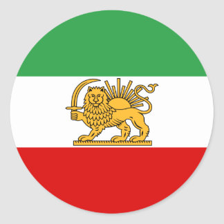 Flagge von Persien/von Iran (1964-1980) Runder Aufkleber