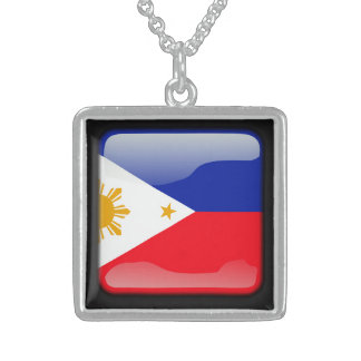Flagge von Philippinen Sterling Silberkette