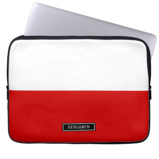 Flagge von Polen Laptopschutzhülle