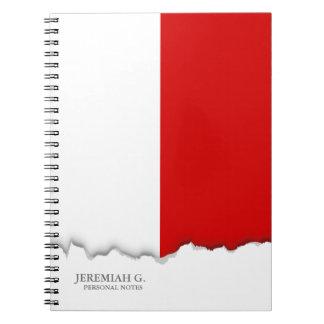 Flagge von Polen Notizblock