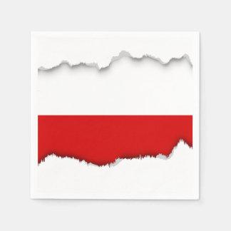 Flagge von Polen Papierserviette