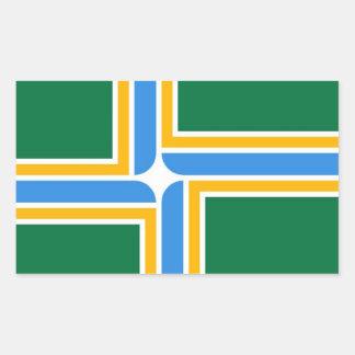 Flagge von Portland Rechteckiger Aufkleber