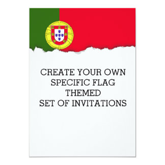Flagge von Portugal Karte