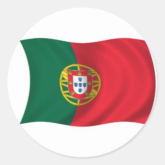 Flagge von Portugal Runder Aufkleber