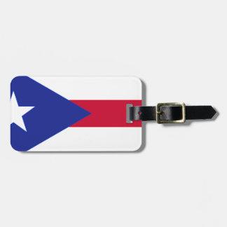 Flagge von Puerto- Rico - Banderade Puerto Rico Kofferanhänger