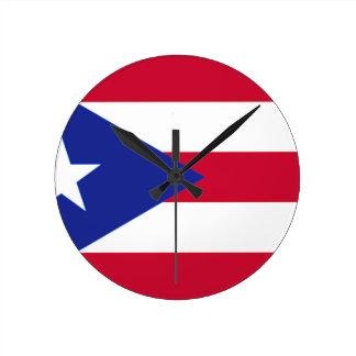 Flagge von Puerto- Rico - Banderade Puerto Rico Runde Wanduhr