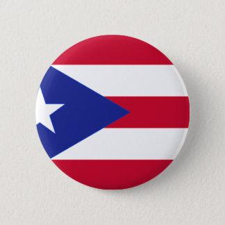 Flagge von Puerto- Rico - Banderade Puerto Rico Runder Button 5,7 Cm