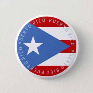 Flagge von Puerto Rico Runder Button 5,1 Cm