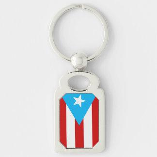 Flagge von Puerto Rico Schlüsselanhänger