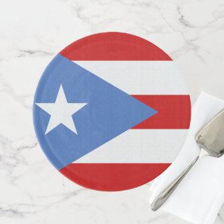 Flagge von Puerto Rico Tortenplatte