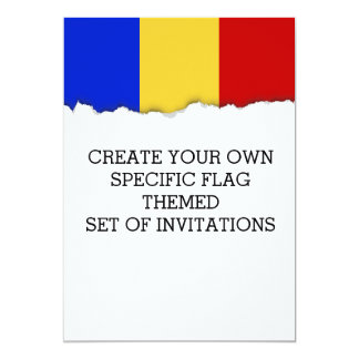 Flagge von Rumänien Karte
