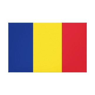 Flagge von Rumänien Leinwanddruck