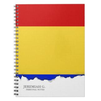 Flagge von Rumänien Notizblock
