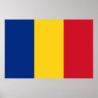 Flagge von Rumänien Poster