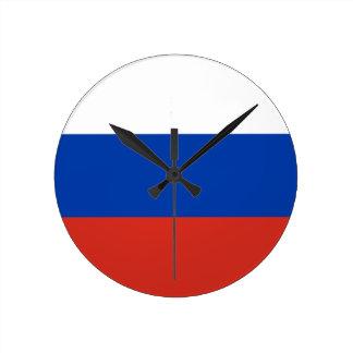 Flagge von Russland - ФлагРоссии - Триколор Runde Wanduhr