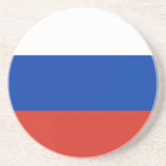 Flagge von Russland - ФлагРоссии - Триколор Sandstein Untersetzer
