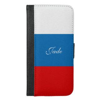 Flagge von Russland iPhone 6/6s Plus Geldbeutel Hülle