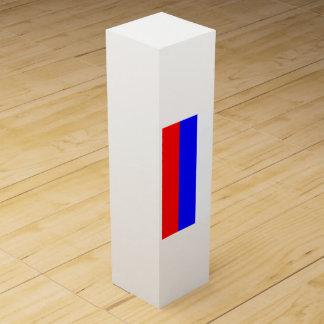 Flagge von Russland Wein-Geschenkverpackung