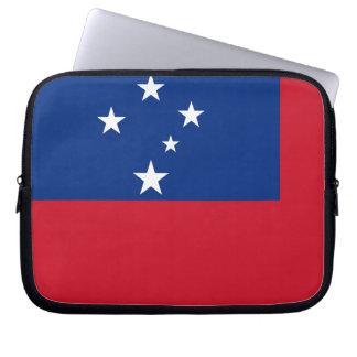 Flagge von Samoa-Inseln Insel Laptopschutzhülle
