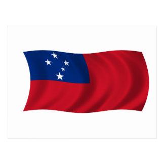 Flagge von Samoa-Inseln Postkarte