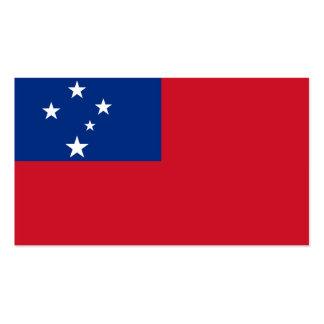 Flagge von Samoa-Inseln Visitenkarten