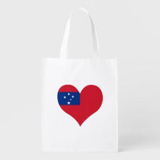 Flagge von Samoan auf Metallhintergrund