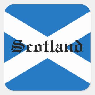 Flagge von Schottland Quadrat-Aufkleber