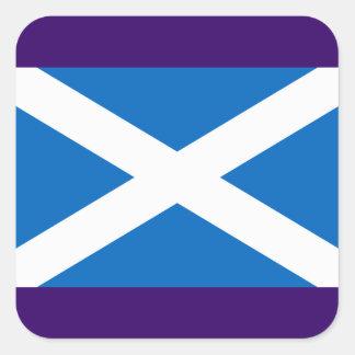 Flagge von Schottland- - Bratachna h-Alba Quadratischer Aufkleber